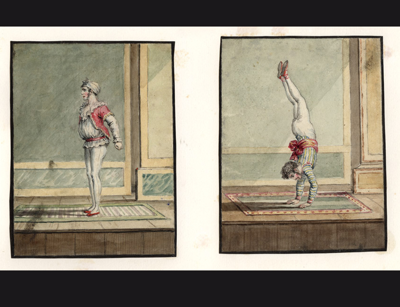 A nineteenth century album containing forty six fine watercolours