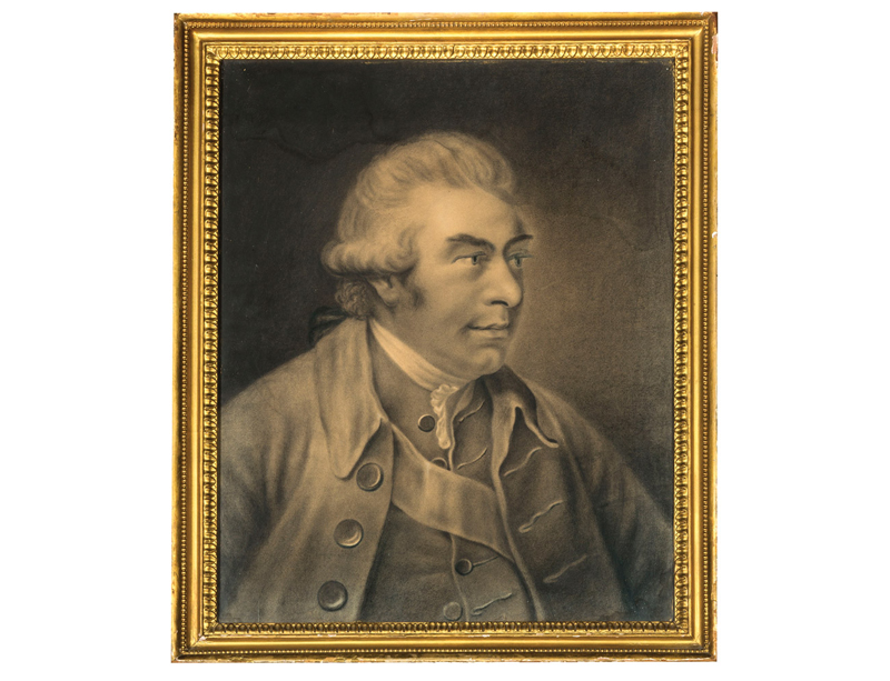 """Portrait of Sr. Joseph Banks. President of the Royal Society"" (early caption"