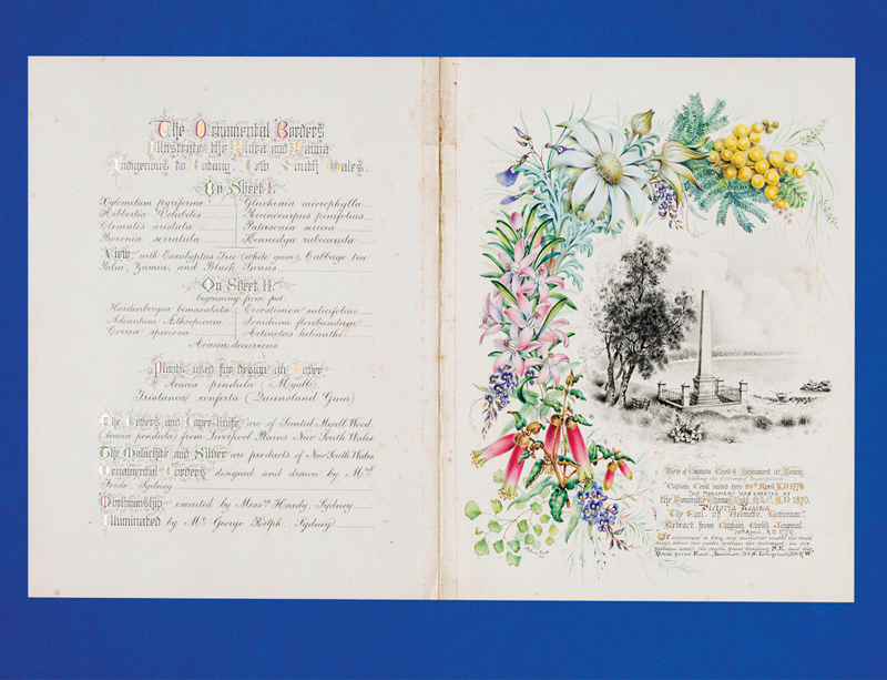 "Manuscript illuminated address ""Presented to His Royal Highness Prince Albert Victor Christian..."