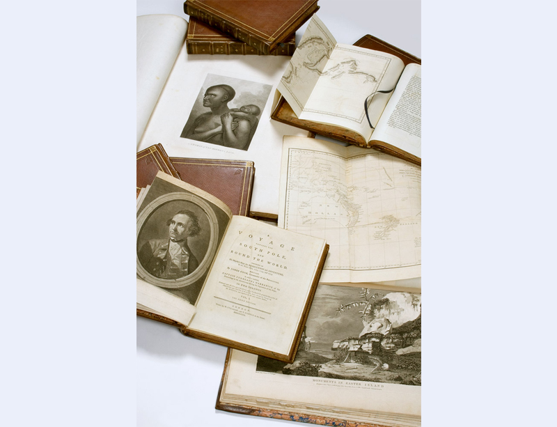 Captain James Cook 250 years on catalogue: A set of the three voyage accounts
