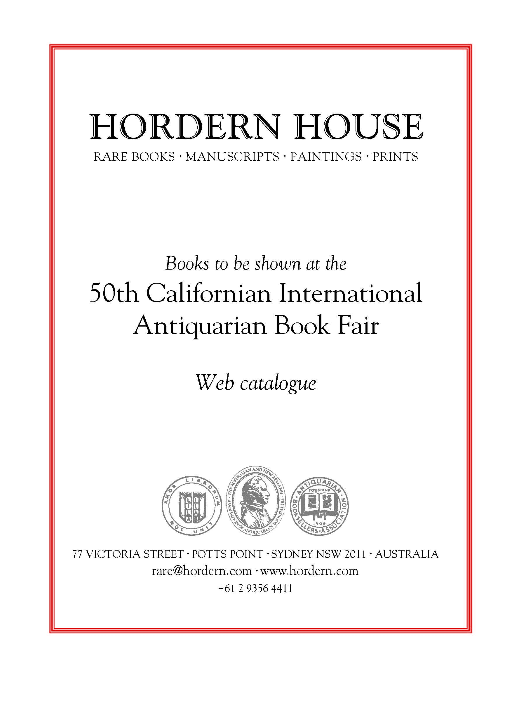 California Antiquarian Bookfair 2017