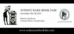 Sydney Rare Book Fair 5th- 7th November 2015