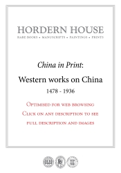 Hordern House exhibiting western works on China in Hong Kong
