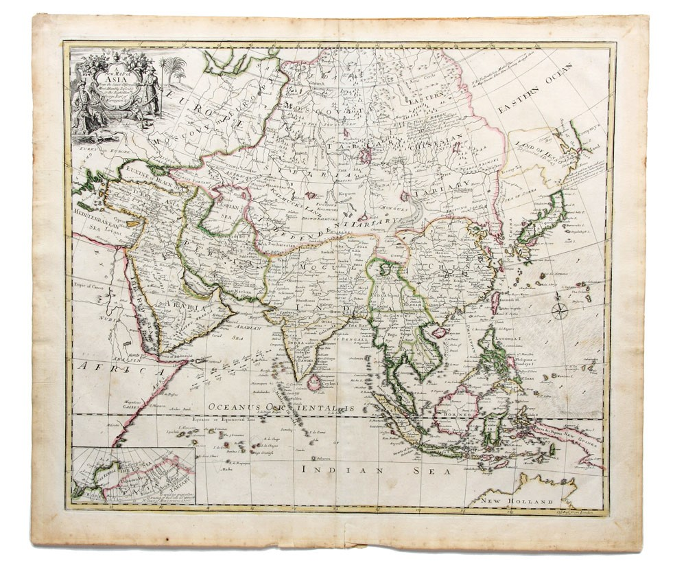 A New Map of Asia From the latest Observations. Most Humbly Inscrib ...