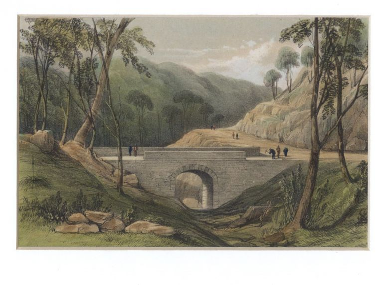 Road from Emu Plains, over the Blue Mountains. The first stone bridge built in N.S.W. Capt. Robert M. WESTMACOTT.