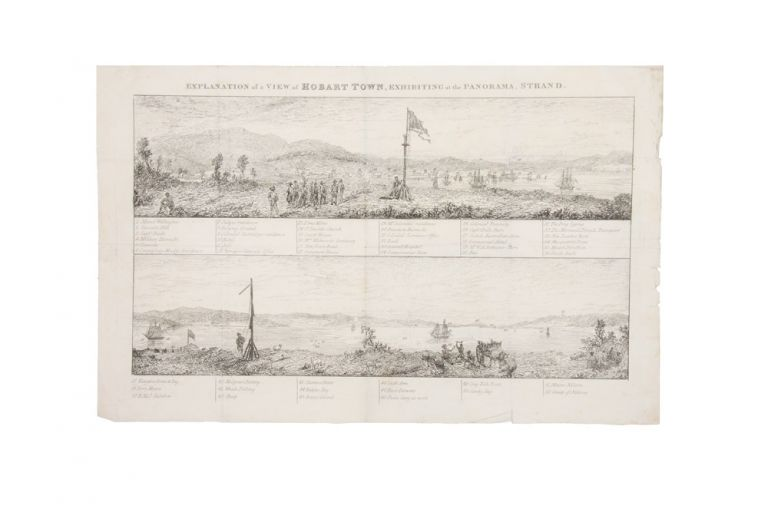 Explanation of a View of Hobart Town, Exhibiting at the Panorama…. Robert after Augustus EARLE BURFORD.