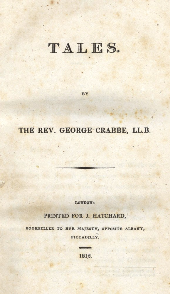 Tales. George CRABBE.