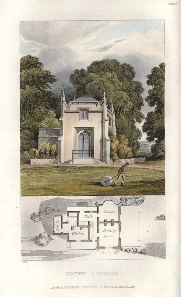 Rural Residences, consisting of a series of designs for cottages, decorated cottages, small villas, and other ornamental buildings…. John Buonarotti PAPWORTH.