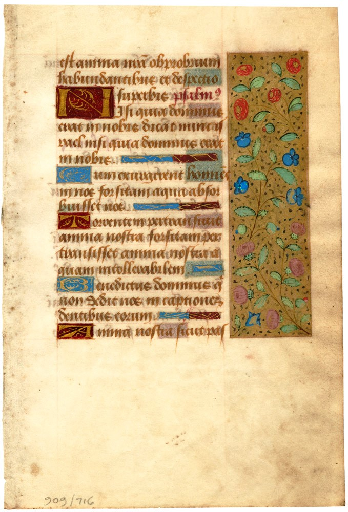 Illuminated leaf from a Book of Hours. FRENCH ILLUMINATOR.