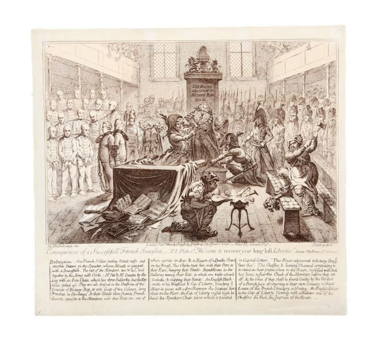 Consequences of a Successfull French Invasion. James after Sir John DALRYMPLE GILLRAY.
