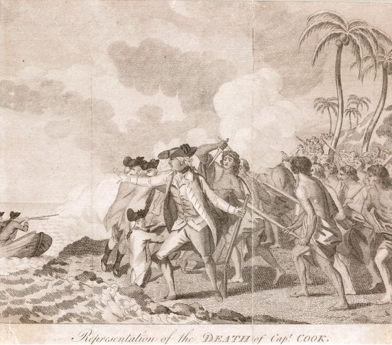 Representation of the Death of Capt. Cook. COOK: DEATH, John WEBBER, after.