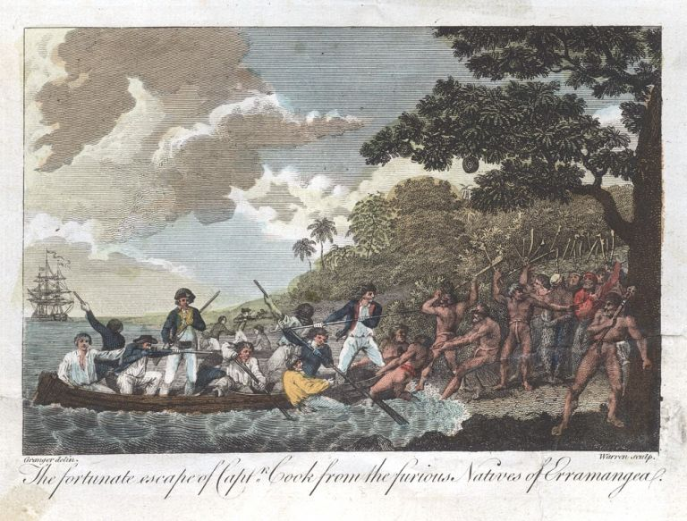 The fortunate escape of Capt. Cook from the furious natives…. COOK: THIRD VOYAGE, GRANGER, After.