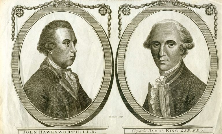 Portraits of Captain James King and Hawkesworth. B. THORNTON, engraver.