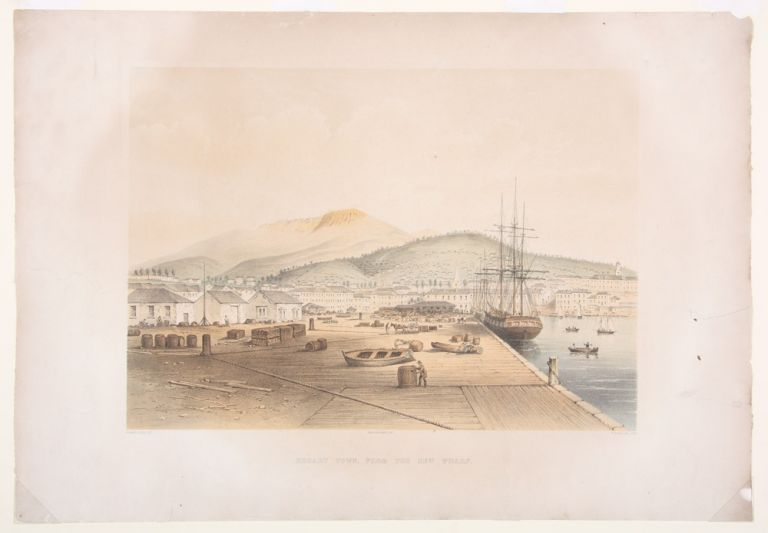 Hobart Town from the Wharf. H. Grant LLOYD, W L. WILTON, lithographer.