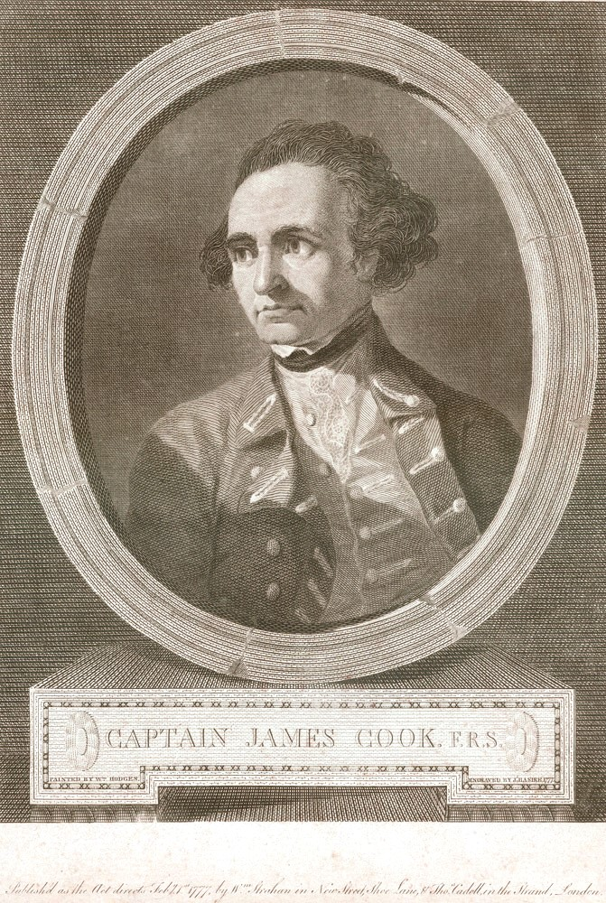Captain James Cook, F.R.S. J. BASIRE, after William HODGES.