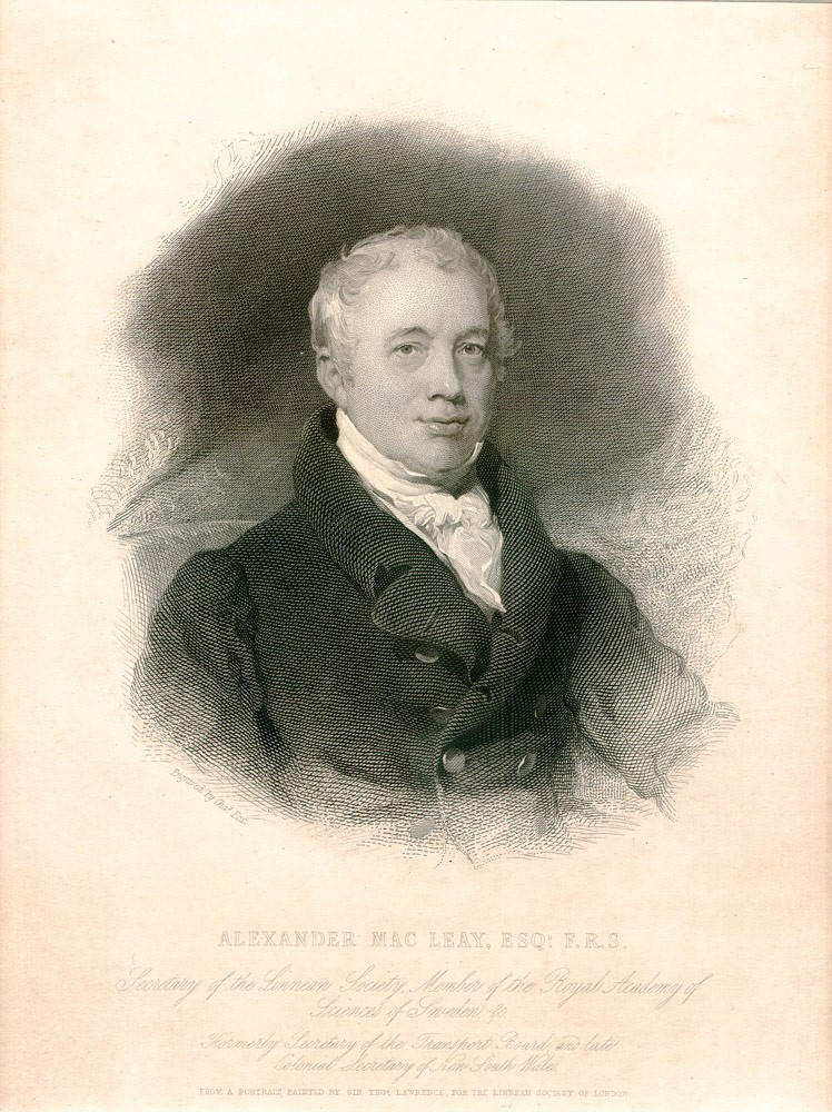 Alexander MacLeay. MACLEAY, Sir Thomas LAWRENCE, Charles FOX, after, engraver.
