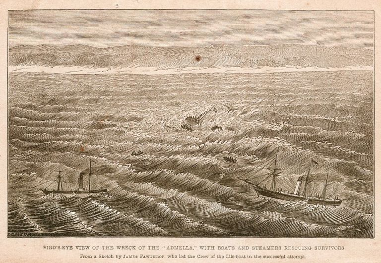 "Narrative of the Shipwreck of the ""Admella,"" Inter-Colonial Steamer, on the Southern Coast of Australia:drawn up from authentic statements furnished by the rescuers and survivors…. ADMELLA, Samuel MOSSMAN."