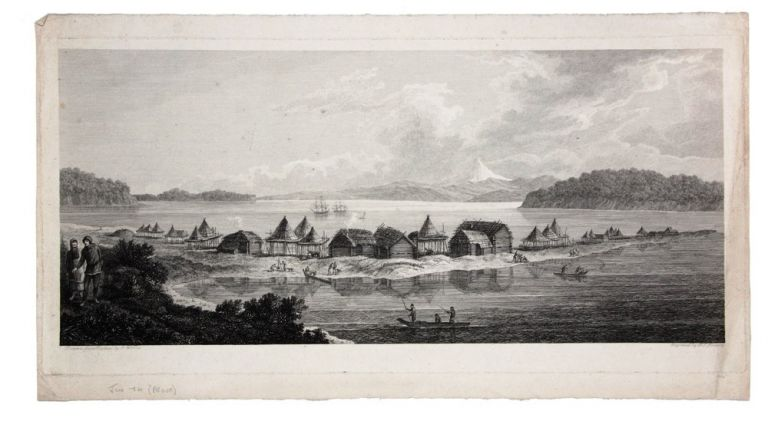 [A View of the Town and Harbour of St Peter and St Paul, in Kamtschatka]. COOK: THIRD VOYAGE, John WEBBER, after, B T. POUNCY.