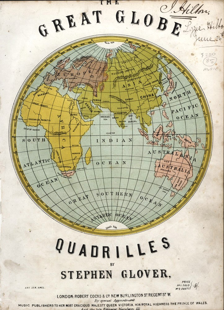The Great Globe Quadrilles on Airs Characteristic of All Nations. Stephen GLOVER.