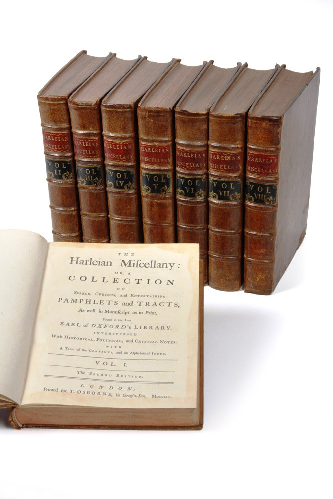 The Harleian Miscellany: or a collection of scarce, curious, and entertaining pamphlets and tracts…. Samuel JOHNSON.