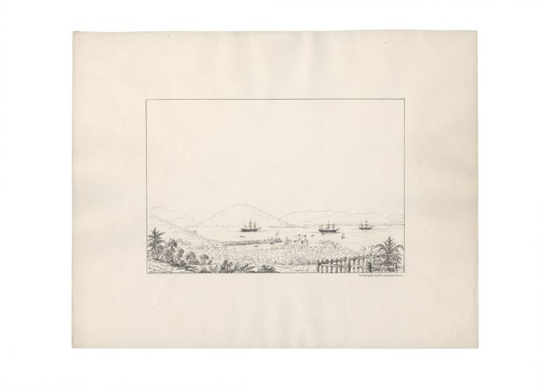 "Ten lithographs views from the series ""Fifteen Views of Australia in 1845 by G.K.E.F"" together with a lithograph of King George's Sound Western Australia. George Knight Erskine FAIRHOLME."
