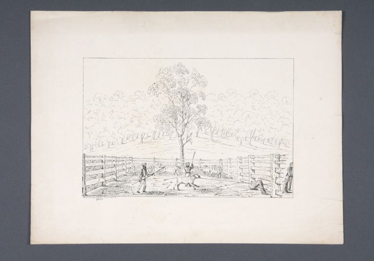 """Ten lithographs views from the series """"Fifteen Views of Australia in 1845 by G.K.E.F"""" together with a lithograph of King George's Sound Western Australia. George Knight Erskine FAIRHOLME."""