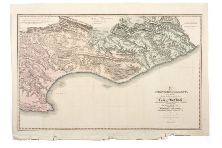 The District of Albany formerly t'Zuurenveld, being the eastern frontier of the Colony of the Cape if Good Hope, shewing locations of the settlers lately arrived from England…. J. KNOBEL.