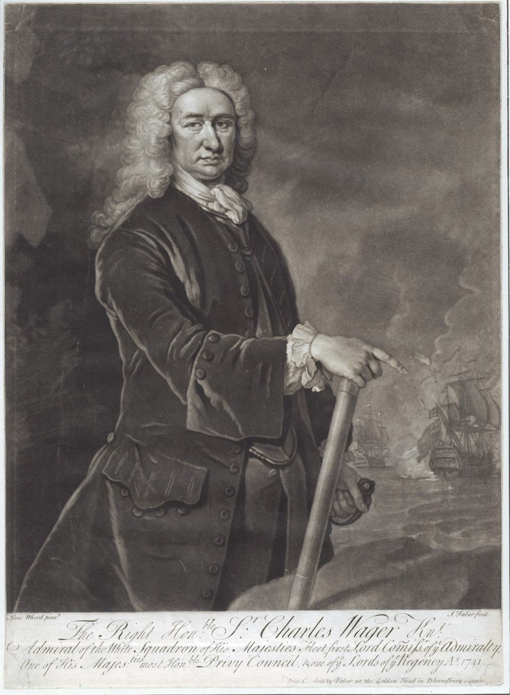 The Right Honourable Sir Charles Wager…. WAGER, Isaac HOOD.