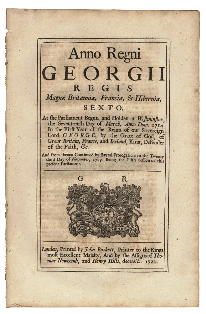 An Act for the further Preventing Robbery, Burglary, and other Felonies, and for the more effectual Transportation of Felons. PARLIAMENT OF GREAT BRITAIN.