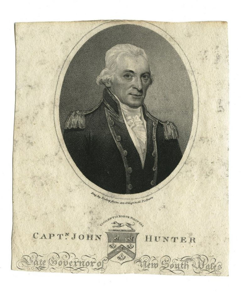 Captn. John Hunter Late Governor of New South Wales. HUNTER, William RIDLEY, engraver.