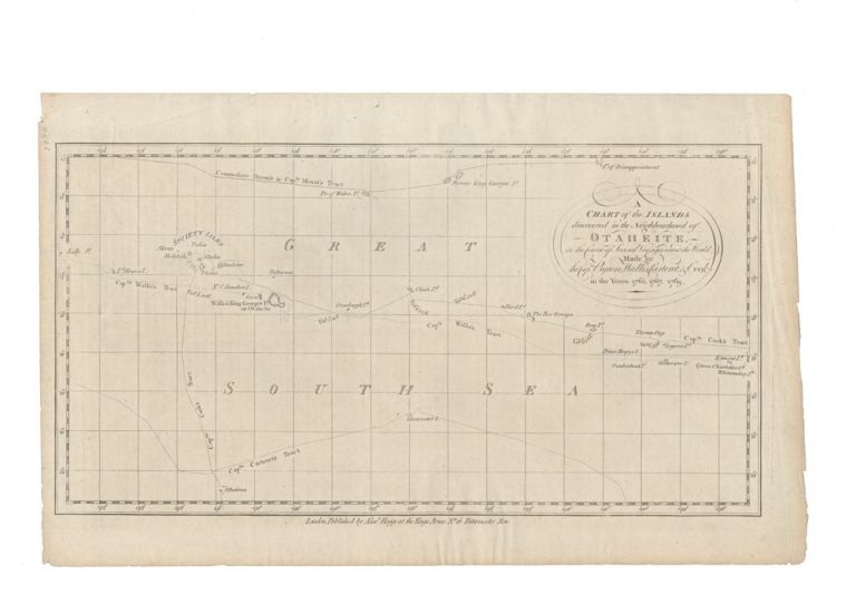 A Chart of the Islands discovered in the Neighbourhood of Otaheite. James COOK.