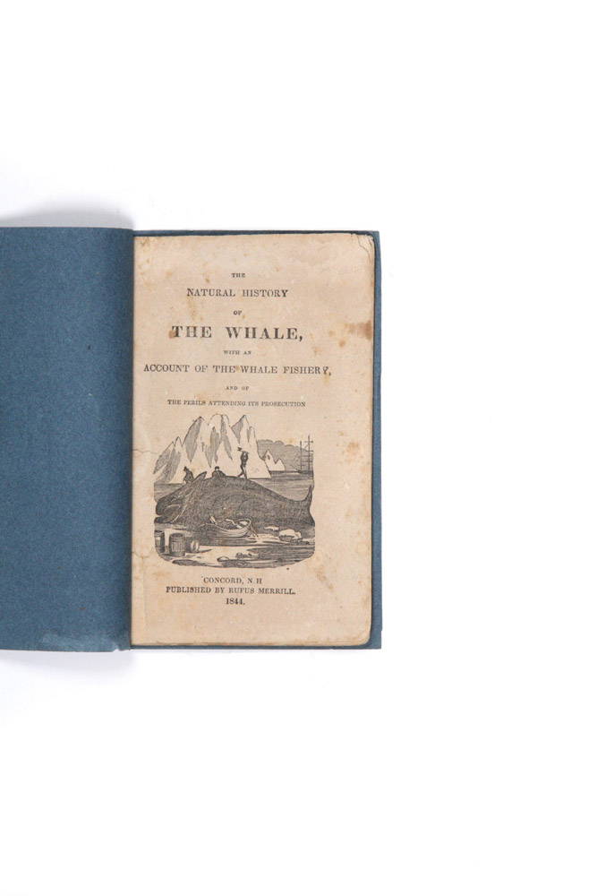 The Natural History of the Whale, with an Account of the Whale Fishery, and of Perils Attending its Prosecution. Rufus MERILL, publisher.