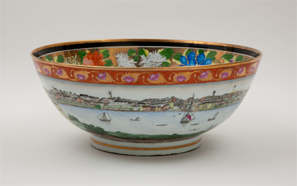A handmade replica of the precious original Chinese bowl in the State Library of New South Wales. SYDNEY PUNCHBOWL.