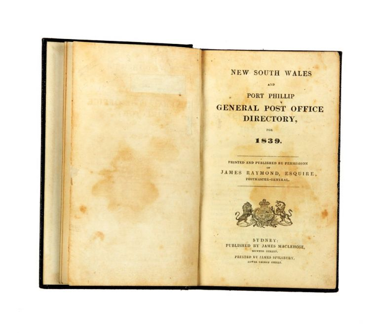 New South Wales and Port Phillip General Post Directory, for 1839. PORT PHILLIP DIRECTORY.