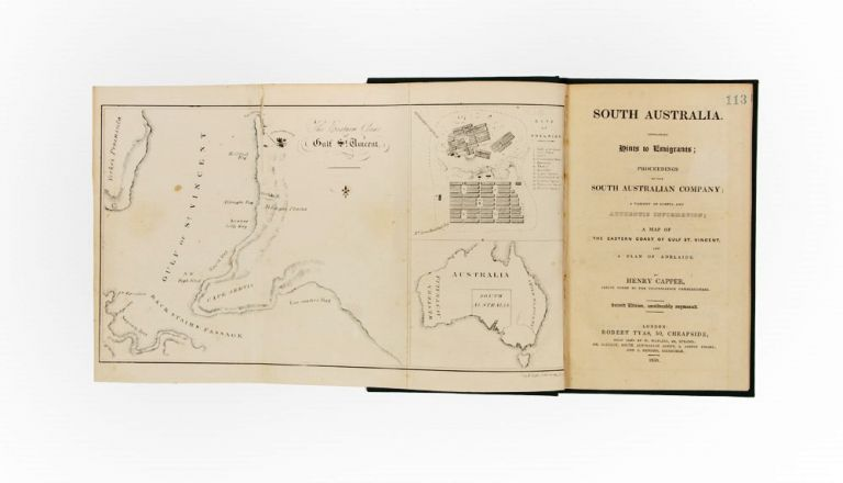 South Australia. Containing Hints to Emigrants; Proceedings of the South Australian Company. Henry CAPPER.