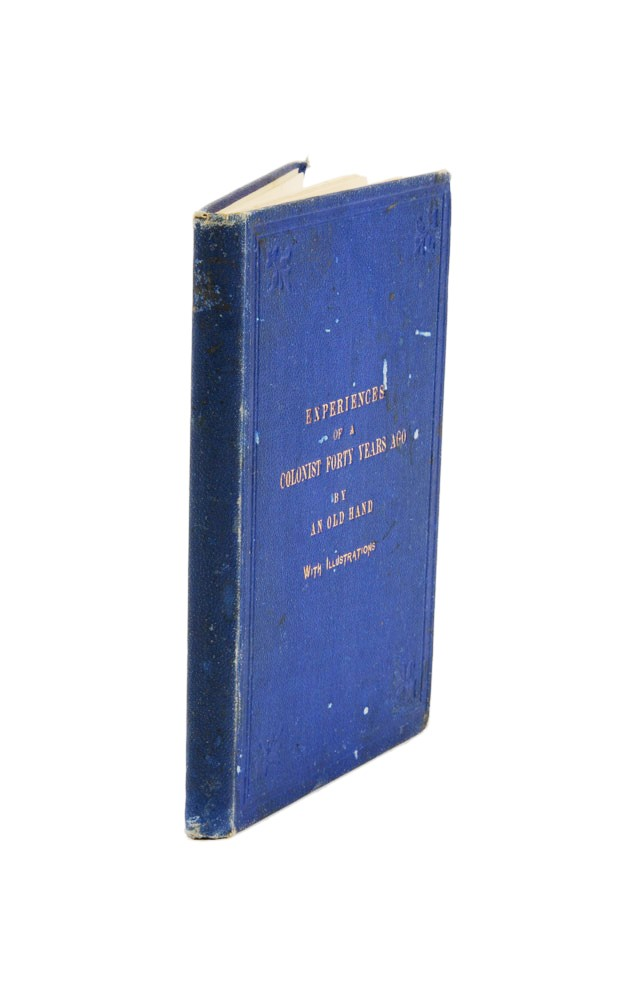 Experiences of a Colonist Forty Years Ago, and a Journey from Port Phillip to South Australia in 1839. George HAMILTON.