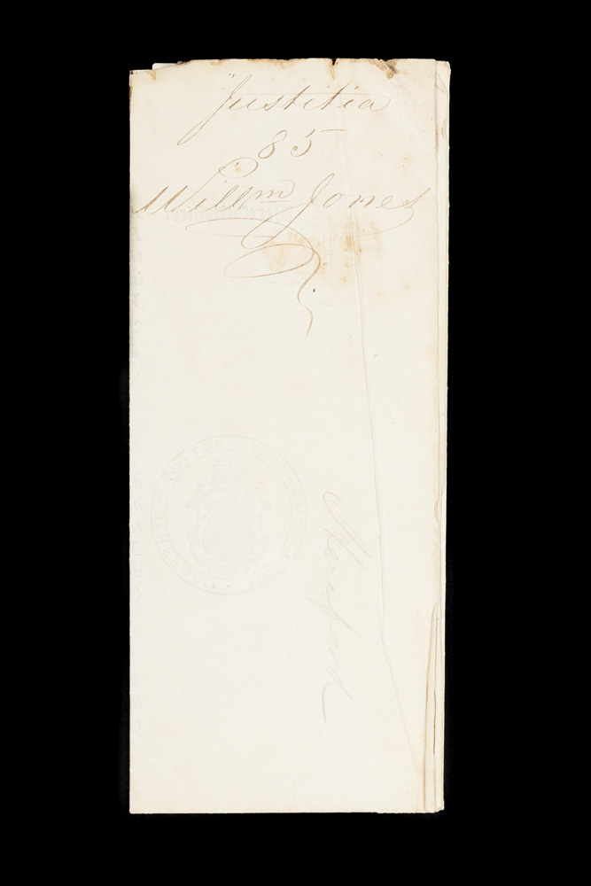 Official record for William Jones convicted of housebreaking at Hereford Quarter Sessions, 1848. TRANSPORTATION.