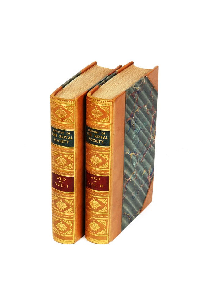 A History of the Royal Society, with Memoirs of the Presidents…. ROYAL SOCIETY, Charles Richard WELD.
