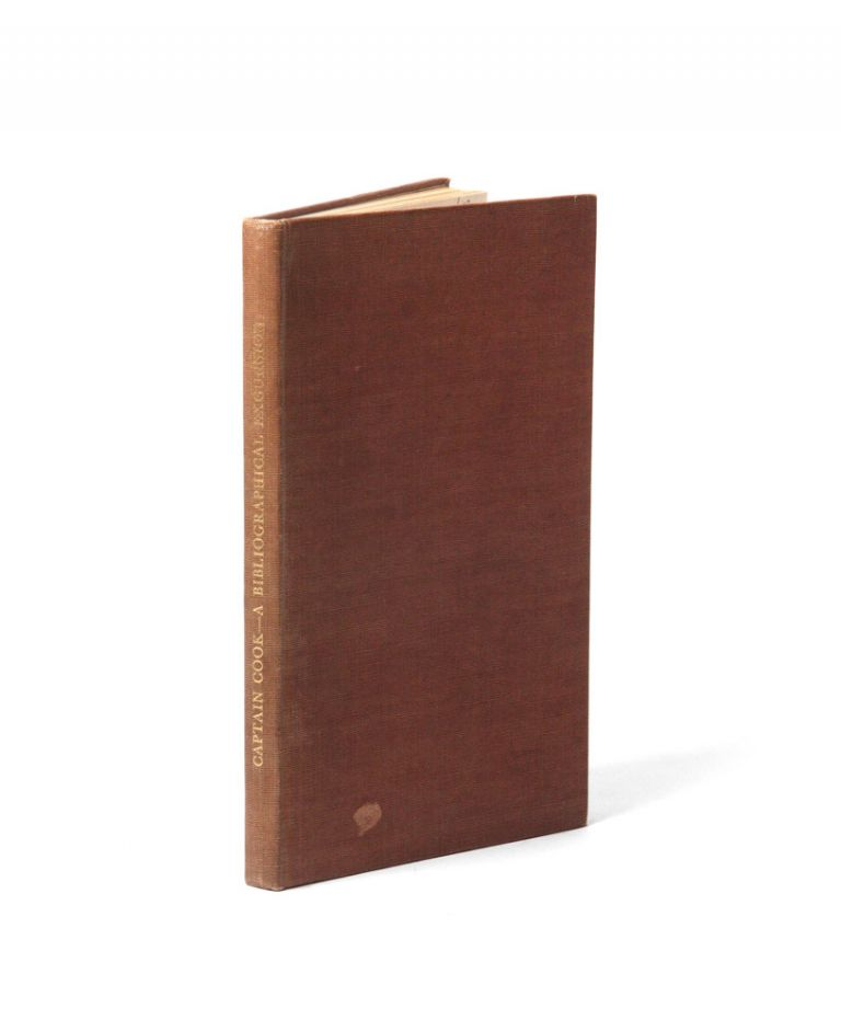 Captain James Cook. A bibliographical excursion. Sir Maurice HOLMES.