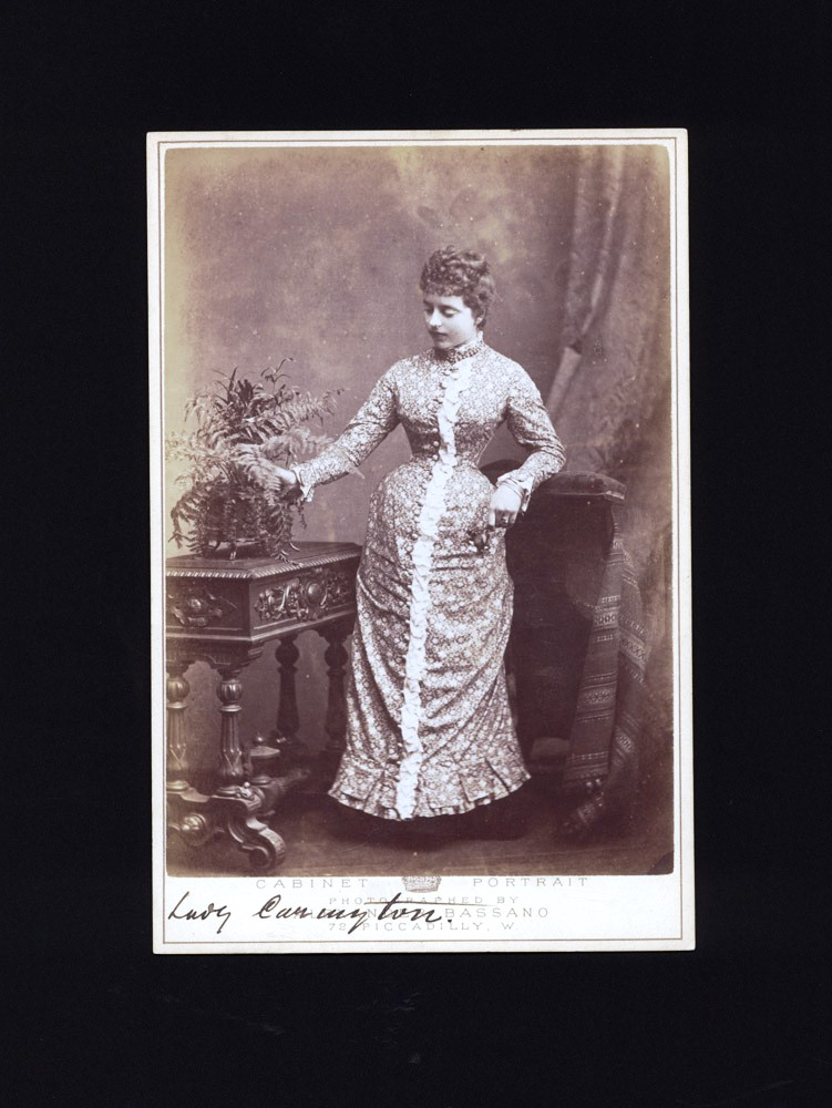 """Cabinet Portrait of """"Lady Carington"""", wife of the Governor General of NSW. LADY CARINGTON, Alexandro BASSANO."""