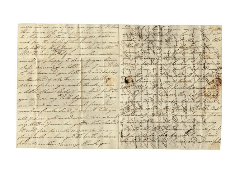 Lengthy autograph letter from Ann McDonald to her brother and sister in Scotland…. SYDNEY HERALD, Ann MCDONALD.