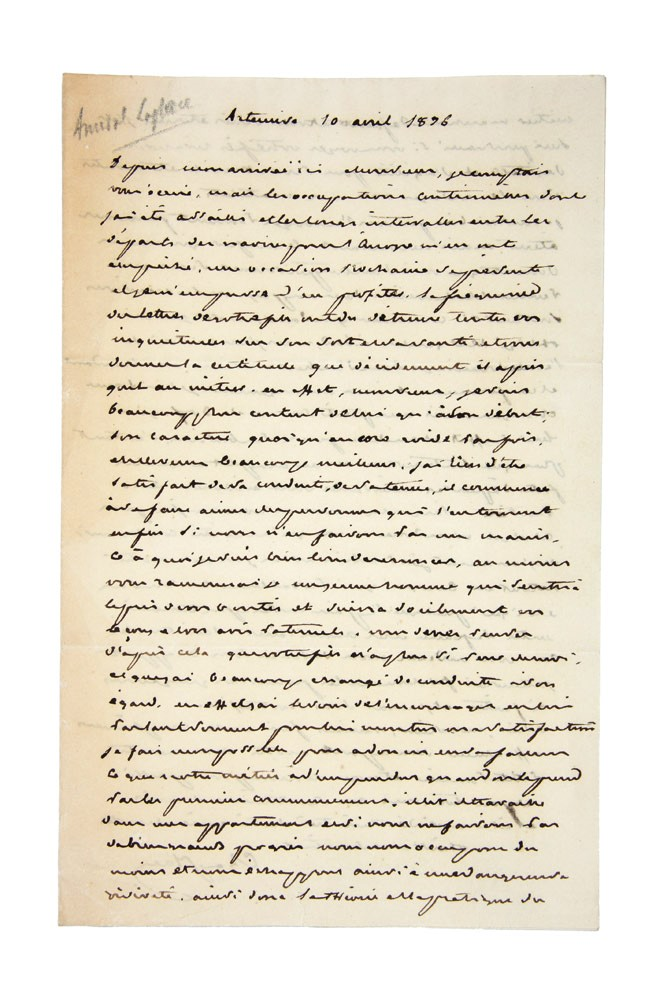 Autograph letter signed, to an unknown correspondent. Cyrille Pierre Theodore LAPLACE.