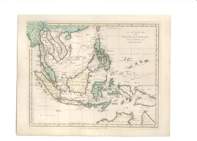 An Accurate Map of the Islands and Channels between China and New Holland. Robert WILKINSON.