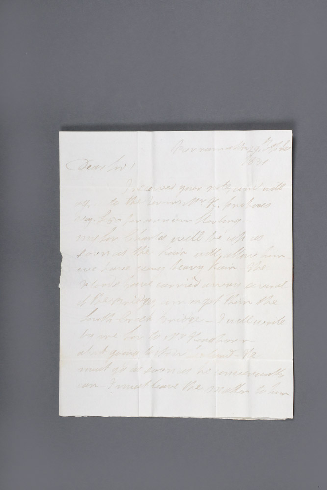 "Important autograph letter signed from the ""Flogging Parson"" Samuel Marsden to the pastoralists' agent George Ranken. Samuel MARSDEN."