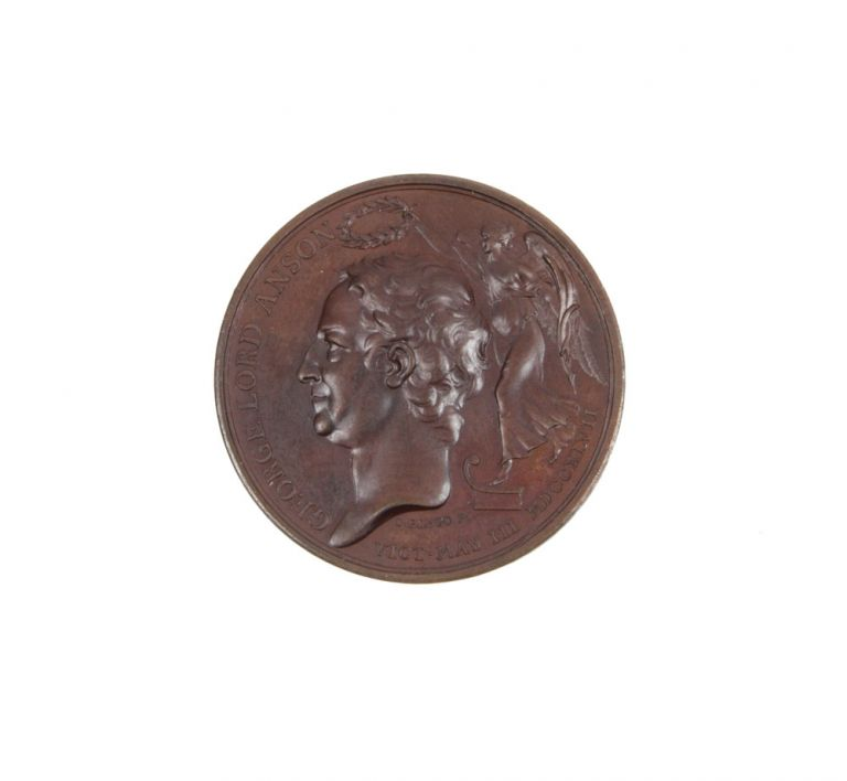Copper Medal in commemoration of his 1740-1744 Circumnavigation and 1747 defeat of the French at Cap Finisterre. ANSON: CENTURION VOYAGE, Thomas PINGO.