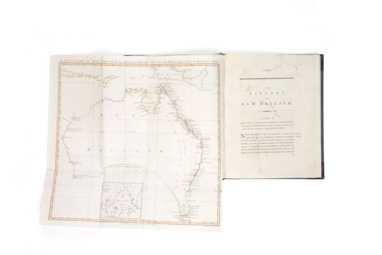 Appendix Continued: The History of New Holland, from its First Discovery in 1616, to the Present Time. And a discourse on banishment by the Right Honourable Lord Aukland. Illustrated with a chart of New Holland, and a plan of Botany Bay. Publisher STOCKDALE, based on ANONYMOUS WORK often misattributed to William Eden.