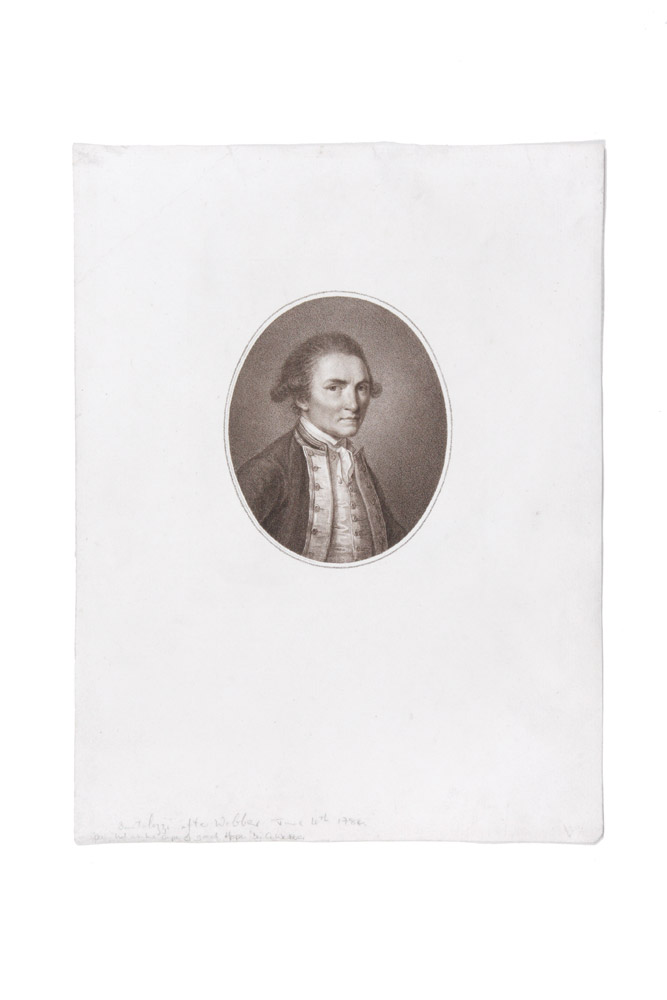 Sepia Portrait of Capt. James Cook. COOK: PORTRAIT, John WEBBER, Francesco BARTOLOZZI.