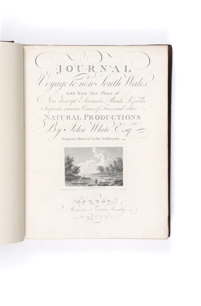 Journal of a Voyage to New South Wales with sixty-five plates of nondescript animals, birds, lizards, serpents…. John WHITE.