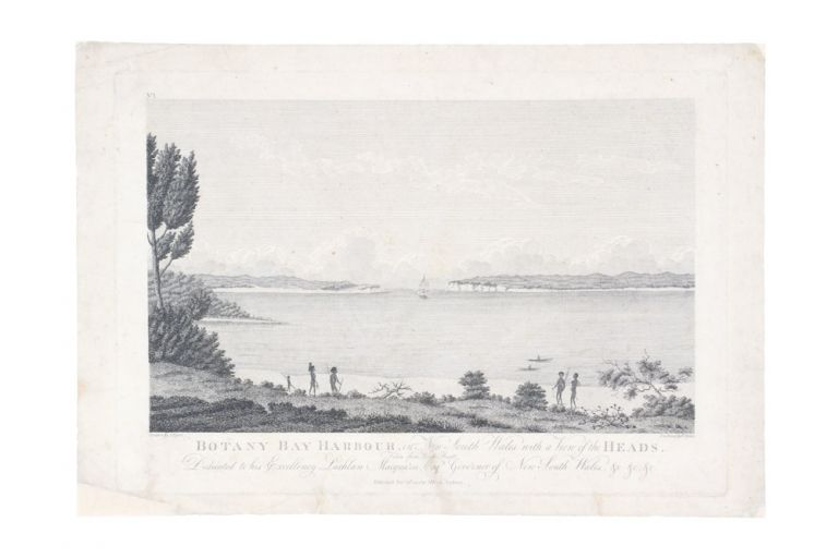 Botany Bay Harbour, in New South Wales: with a View of the Heads. Absalom WEST, after John EYRE, Publisher.