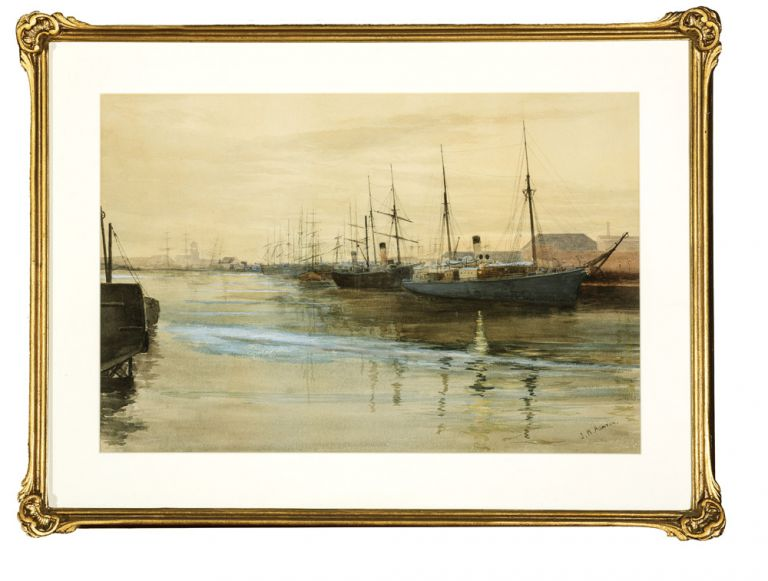 Shipping on the Yarra - Early Morning. Julian Rossi ASHTON.